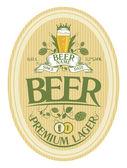 Návrh štítku pivo. — Stock vektor