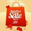 Valentine`s day sale. — Stock Vector