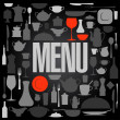 Retro restaurant menu card design. - Stock Vector