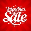 Valentine`s day sale. - Stock Vector