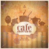 レトロなレストラン メニュー カードのデザイン. — ストックベクタ