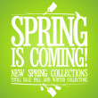 Spring is coming design. — Stockvectorbeeld