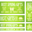 Best Spring gifts banners. — Stock Vector