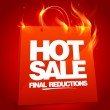 Vector de stock : Fiery hot sale design.