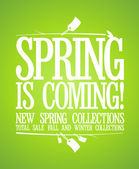 Spring is coming design. — Vettoriale Stock