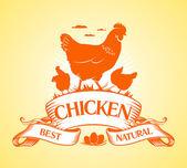 Best chicken design. — Stock Vector