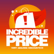 Incredible price, sale design template. — 图库矢量图片 #22885052