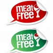 Meat free stickers. - Imagen vectorial