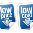 Low price stickers set. - Image vectorielle