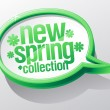 New spring collection speech bubble. - Imagen vectorial