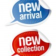 New collection stickers. - Imagen vectorial