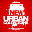 New urban collections design template. - Imagen vectorial