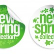 New spring collection stickers. - Imagen vectorial