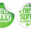 New spring collection stickers. - Image vectorielle
