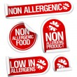 Non allergenic products stickers. - Imagen vectorial