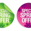 Spring offer stickers. — Stock Vector