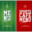 Sports Cafe Menu cards template. - Stock Vector
