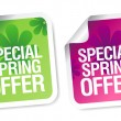 Winter offer stickers. -  