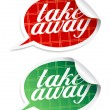Stock Vector: Take away stickers.
