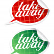 Take away stickers. — Stock Vector