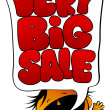 Very Big Sale screaming girl. - Imagen vectorial