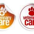 Veterinary care stickers. - Image vectorielle