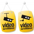 Video surveillance signs. - Stock Vector