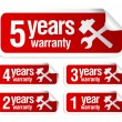Stock Vector: Warranty stickers set