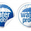 Waterproof stickers. - Stok Vektör
