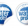 Waterproof stickers. - Stockvectorbeeld