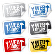 Web under construction stickers. - Image vectorielle