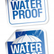 Waterproof stickers. - Imagen vectorial
