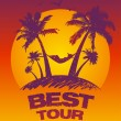 Best tour design template. — Stock Vector