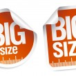 Big size stickers — Stock Vector #22885244
