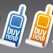 Buy now stickers. — Imagen vectorial