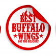 Chicken wings food stickers. - Vettoriali Stock