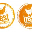 Best chicken stamps. - Vettoriali Stock