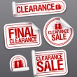 Final clearance sale stickers. - Vettoriali Stock