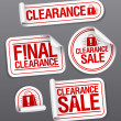 Stock Vector: Final clearance sale stickers.