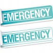 Emergency stickers. — Stock Vector