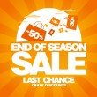 End of season sale design template. - Stock Vector