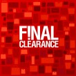 Final clearance background. - Vettoriali Stock