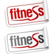 Fitness stickers. — Stockvektor