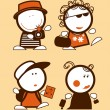 Tourist funny peoples. - Stock Vector
