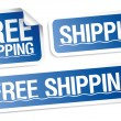Free shipping stickers. - Stock Vector
