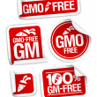 Royalty-Free Stock Vector Image: GMO free stickers.