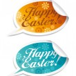 Happy Easter stickers. — Stock Vector