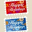 Happy holidays stamps. — 图库矢量图片