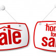 Stock Vector: Property Sale Signs