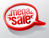 Mega Sale speech bubble. — Stock Vector